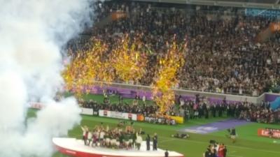 ラグビーワールドカップ2019表彰式