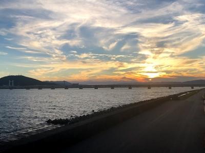 眉山と吉野川 台風前