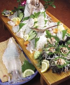 魚介類盛り合わせ