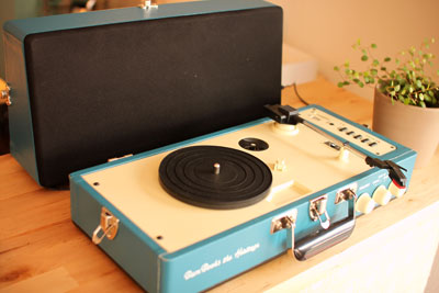 portable turn table player