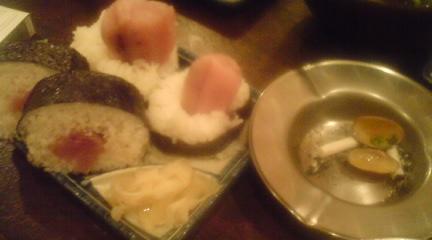 鮪の中落ちぶっかけ寿司