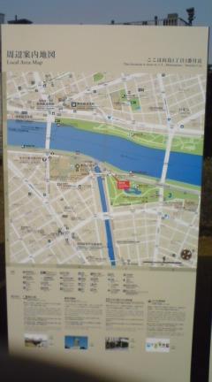 隅田川沿いの地図