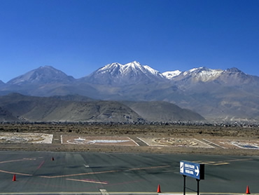 アレキパ空港からの眺め