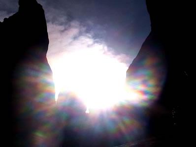 セドナ カセドラルロック 太陽