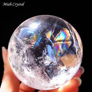 虹の水晶丸玉 ミーアクリスタル