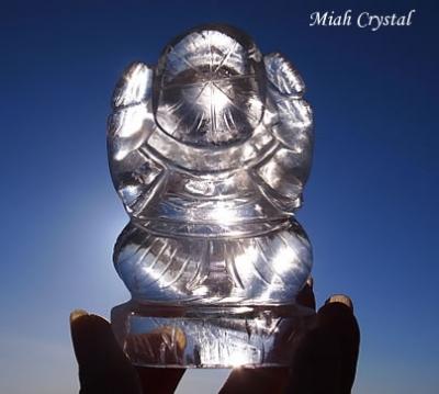 水晶ガネーシャ ミーアクリスタル
