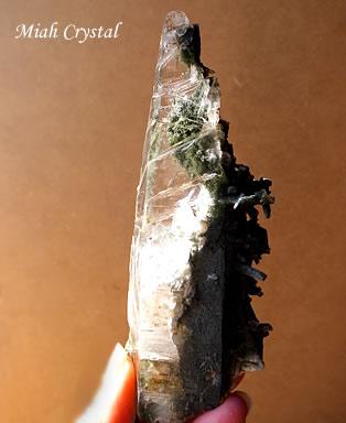 緑泥ヒマラヤ水晶 ガネーシュヒマール産 ミーアクリスタル