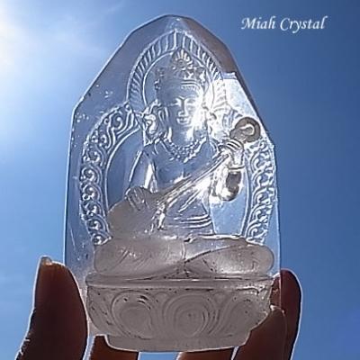 ヒマラヤ水晶彫刻 ホワイトターラ ミーアクリスタル