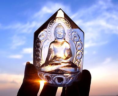 ヒマラヤ水晶彫刻 仏陀 ミーアクリスタル