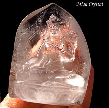 ヒマラヤ水晶彫刻 ホワイトターラ母神 ミーアクリスタル