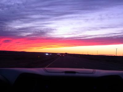 アリゾナ州 ペトリファイドフォレスト 夕焼け ミーアクリスタル