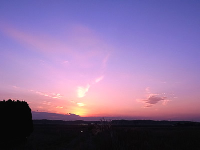 湖畔の夕焼け ミーアクリスタル