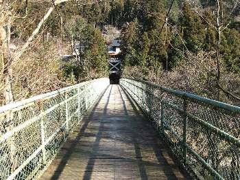 梅沢橋の上