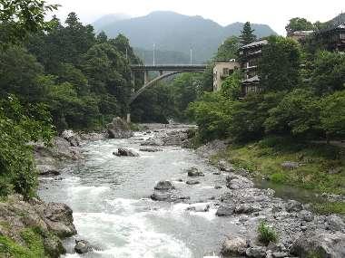 多摩川に御岳橋