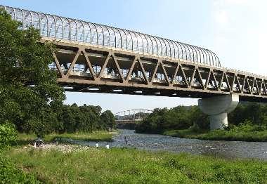 多摩川橋(圏中道)