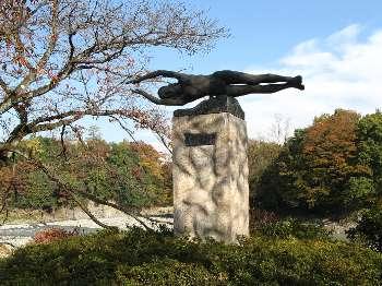 若鮎の像 (釜の淵)