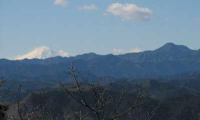 富士山と大岳山(日和田山)