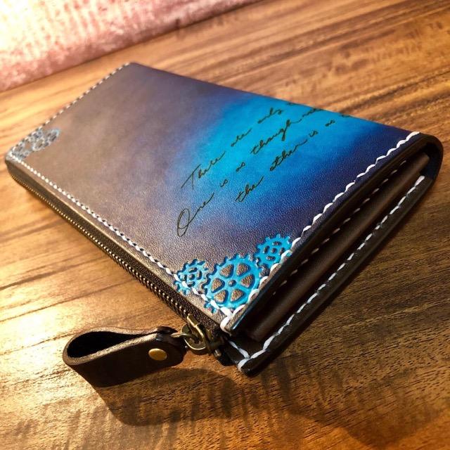 歯車デザインの財布
