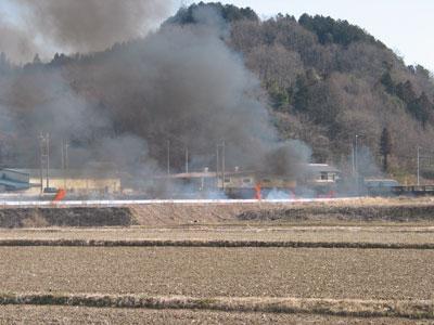 畦畔焼却と害虫駆除