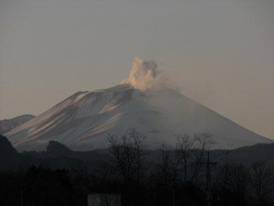 浅間山2008年12月31日