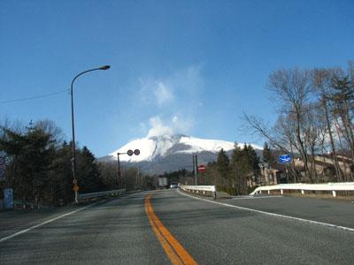 小噴火後の浅間山