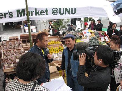 青山国連大学前で、毎週土曜日に開催されているマルシェ