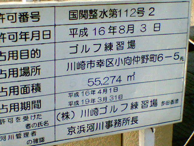 川崎河川敷練習場の住所
