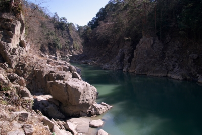 天竜峡の渓谷写真