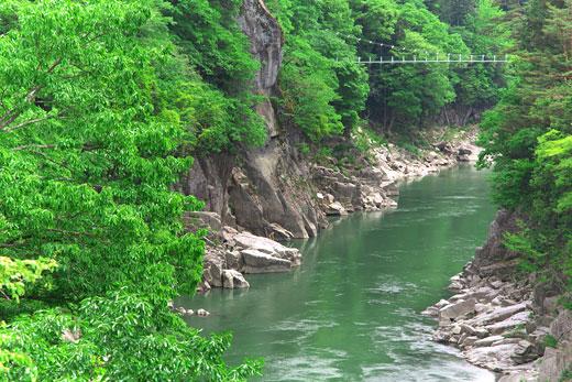 天竜峡の渓谷