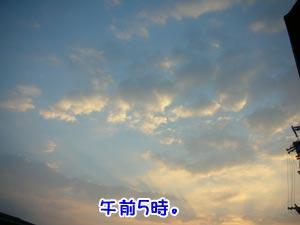 キレイな空でした