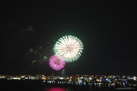 琵琶湖の花火