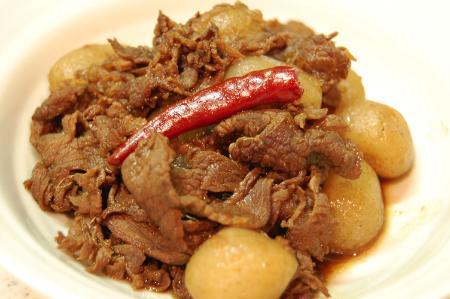 牛肉と玉こんのしぐれ煮