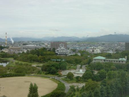 ホテルからの景色