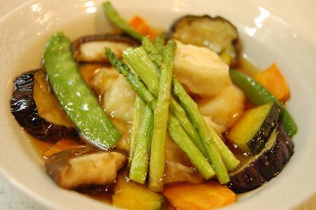お豆腐と色々野菜の揚げ浸し