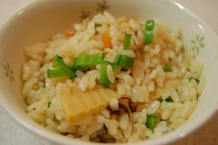 たけのことお野菜色々混ぜご飯