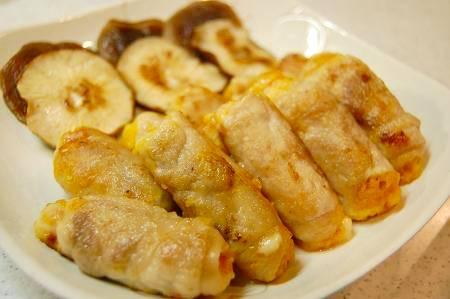 豚肉のカボチャ&チーズ巻き