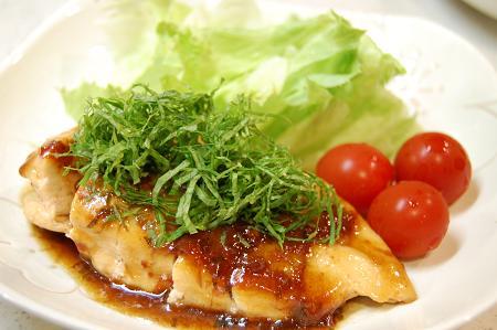 鶏肉の梅ソテー