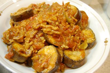 豚ひき肉となすのカレー煮