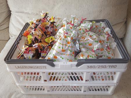 ハロウィンキャンプお菓子