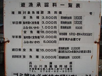 円山川 釣り規則