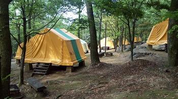 東彼杵町・龍頭泉いこいの広場キャンプ場 常設テント