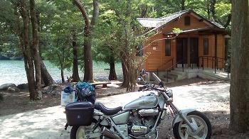 嬉野市・広川原キャンプ場にてバイクソロキャンプ