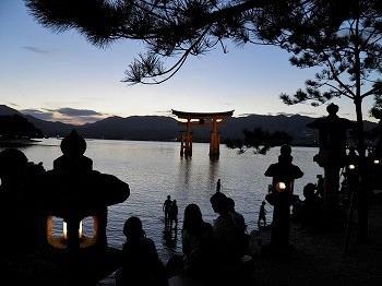 宮島 厳島神社 夕景