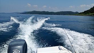 高島周辺でボート釣り