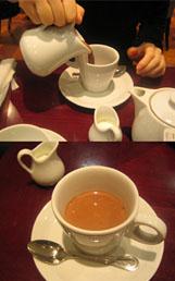 オレンジ風味のホットチョコ