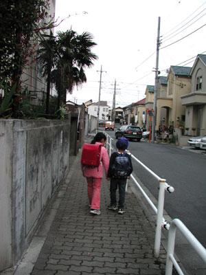 保育園の帰り道