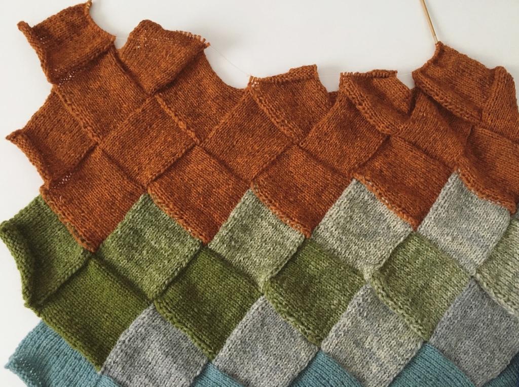 プレウールで編むブランケット