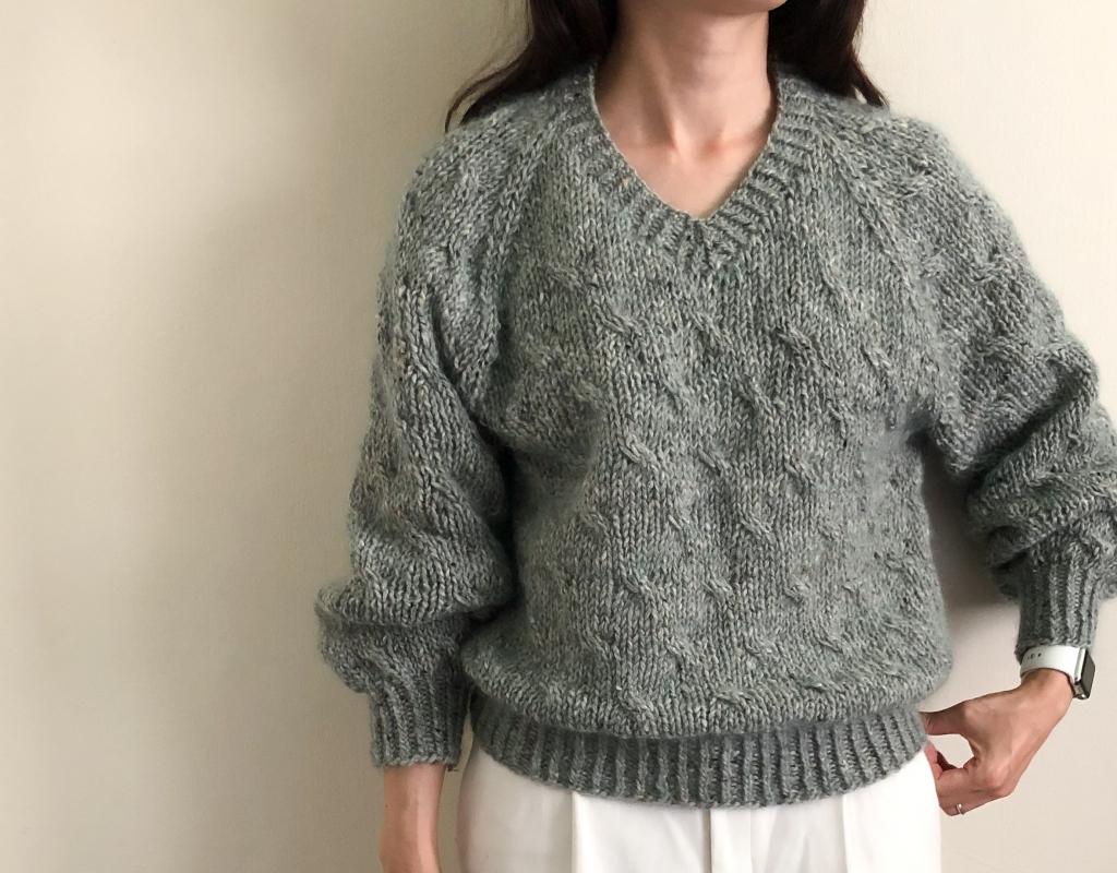 7mmで編むセーター