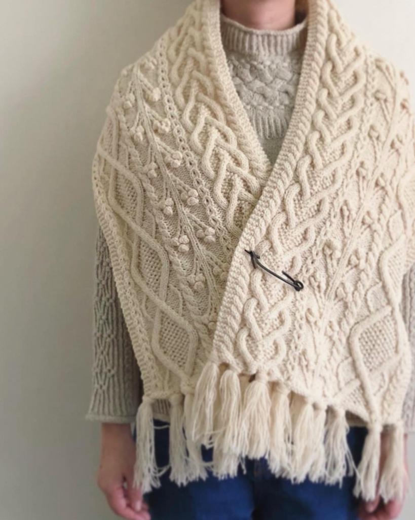 プチラムウールで編むマフラー
