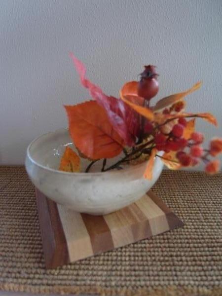 益子焼き+お花